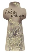 Sentiment Double-Sided Cross: God is With You, Taupe, Be Still and Know That I Am God Homeware