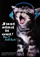 Poster Large: Just Sing It Out!, Kitten Wearing Headphone - Singing! Poster
