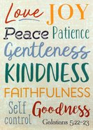 Poster Large: Fruit of the Spirit, Galatians 5:22-23 Poster