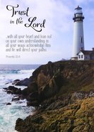 Poster Large: Trust in the Lord, Lighthouse on Rocky Hill Poster