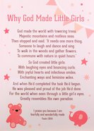 Poster Large: Why God Made Little Girls, White/Pink Poster