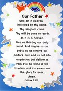 Poster Large: Lord's Prayer (Clouds/rainbow) Poster