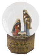 Resin Wood Look Holy Family Waterglobe Homeware