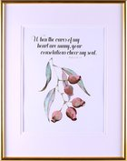 Medium Gold Framed Print: Australian Native Gumnuts, Psalm 94:19 Plaque