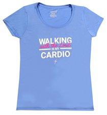 Womens Activewear T-Shirt: Cardio, 2xlarge Light Blue