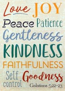 Poster Large: Fruit of the Spirit, Galatians 5:22-23