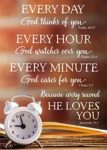 Poster Large: Every Day, Every Hour, Every Minute, He Loves You