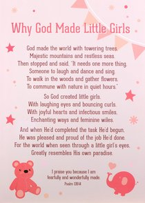 Poster Large: Why God Made Little Girls, White/Pink
