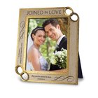 Frame Cast Stone: Joined in Love (Col 2:2, 1 Cor 13:4) Homeware