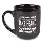 Ceramic Mug: Encourage Men, Take Heart, Black/White (John 16:33) Homeware