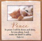 Touching Thoughts Magnet: Peace... in Peace I Will Lie Down... (Psalm 4:8) Novelty