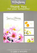 Boxed Cards Thank You: For Your Sympathy, Flowers