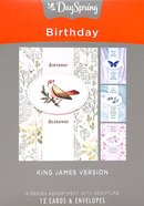 Boxed Cards Birthday: Treasured, KJV Scripture Text Box