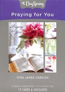 Boxed Cards Praying For You: Lustrous, KJV Scripture Text Box