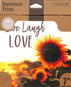 Ceramic Trivet: Live, Laugh, Love, Sunflowers Homeware