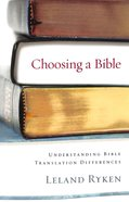 Choosing a Bible Booklet