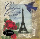 Napkins: God Gives Generously to All, Paris Eiffel Tower, (James 1:3) Homeware