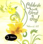 Napkins: Celebrate With Great Joy! Yellow Flowers, (Nehemiah 8:12) Homeware