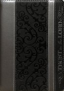 Journal Divine Details: Trust in the Lord, Black/Silver, Zippered Closure