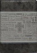 Journal Divine Details: Names of God, Black/Grey, Zippered Closure Imitation Leather