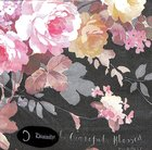 Napkins: Thankful, Grateful, Blessed, Floral on Black Background Homeware