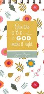 Joyce Meyer Spiral Notepad: Give It to God, White/Yellow Floral Stationery