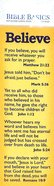 Believe , Various Scriptures (10 Pack) (Bible Basics Bookmark Series) Stationery