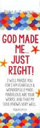 God Made Me Just Right (10 Pack) (Bible Basics Bookmark Series) Stationery