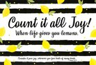 Poster Small: Count It All Joy Poster
