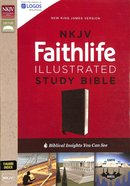 NKJV Faithlife Illustrated Study Bible Black Indexed (Red Letter Edition) Bonded Leather