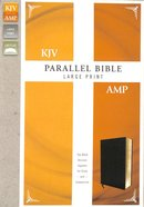 Kjv/Amp Parallel Bible Large Print Black (Kjv Red Letter, Amp Black Letter) Bonded Leather