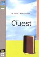 NIV Quest Study Bible Burgundy/Tan Indexed (Black Letter Edition) Premium Imitation Leather