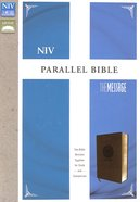 Niv/Message Parallel Bible Brown (Black Letter Edition) Premium Imitation Leather