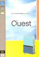 NIV Quest Study Bible Blue Indexed (Black Letter Edition) Premium Imitation Leather