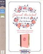 NIV Journal the Word Bible For Women Pink (Red Letter Edition) Premium Imitation Leather