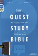 NIV Quest Study Bible Black Indexed Premium Imitation Leather