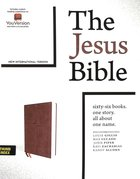 NIV Jesus Bible Brown Indexed Comfort Print Premium Imitation Leather