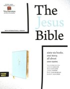 NIV Jesus Bible Blue Indexed Comfort Print Premium Imitation Leather