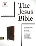 NIV Jesus Bible Black Indexed Comfort Print Premium Imitation Leather