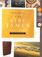 KJV Study Bible Brown Full-Color Edition (Red Letter Edition) Bonded Leather