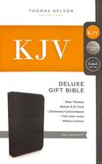 KJV Deluxe Gift Bible Black (Red Letter Edition) Premium Imitation Leather