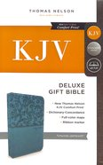 KJV Deluxe Gift Bible Turquoise (Red Letter Edition)