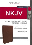 NKJV Deluxe Reference Bible Super Giant Print Brown (Red Letter Edition) Premium Imitation Leather