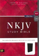 NKJV Study Bible Black Indexed (Black Letter Edition) Bonded Leather