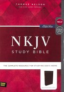 NKJV Study Bible Burgundy Indexed (Black Letter Edition) Bonded Leather