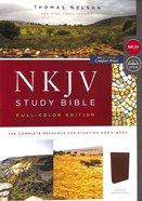 NKJV Study Bible Burgundy Full-Color (Red Letter Edition)