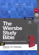 NKJV Wiersbe Study Bible Burgundy Indexed Premium Imitation Leather