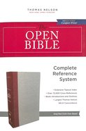NKJV Open Bible Gray/Red (Red Letter Edition) Hardback