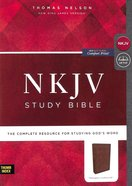 NKJV Study Bible Brown Indexed (Black Letter Edition) Imitation Leather