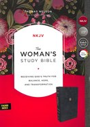 NKJV Woman's Study Bible Blue Indexed Premium Imitation Leather